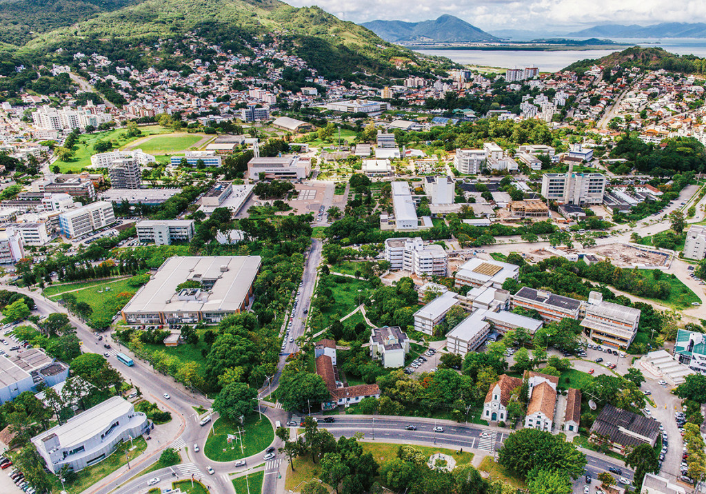 Aerial view of the Federal University of Santa Catarina - Florianópolis Campus. Photo: Jair Quint/Agecom/UFSC